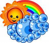 Sun, Cloud and Rainbow