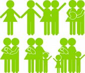 Icons People green and History of Love.