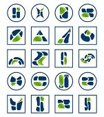 Set of vector elements Corporate business style