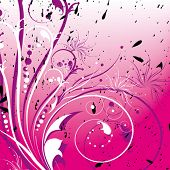picture of single flower  - Flower grunge background 	