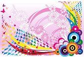 Congratulatory con corazones mariposas y colores