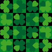 Vector seamless background Clover