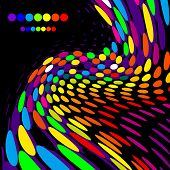 Bright creative background.At a black background. (Version vector 14310676)