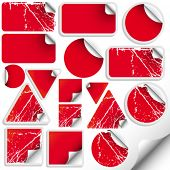 Set of trendy sticker (with grunge options)