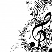 stock photo of g clef  - Musical theme - JPG