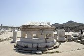 Agora Columns Dome  Delos Greece