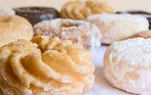 donuts - close-up of honey cruller with shallow DOF