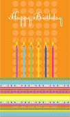 Vector birthday cake with colorful candles