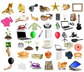 isolated objects on the white background