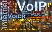 foto of voip  - Background concept wordcloud illustration of VoIP glowing light - JPG