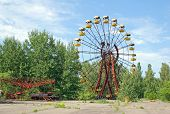 Abandoned amusement park in Pripyat, Chernobyl area