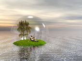 Surreal 3d scene. Protect nature. More in my portfolio.