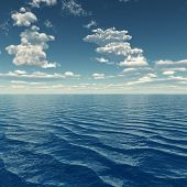picture of clouds sky  - Beautiful sea and clouds sky  - JPG