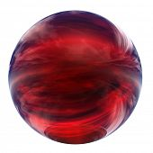 3d red glass sphere isolated on white,ideal for 3D symbols, web buttons or logo designs