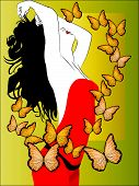 Woman With Butterflies