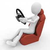 3D Man Driving Lessons