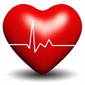 Постер, плакат: Высоким разрешением 3D сердца изолированные на белом фоне идеально подходит для любви или медицинские конструкции