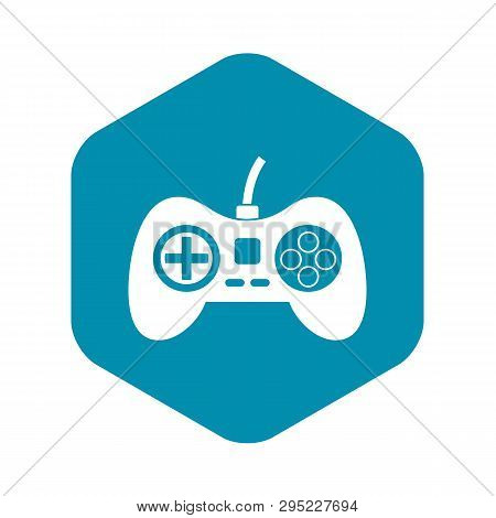 poster of Video Game Console Controller Icon. Simple Illustration Of Video Game Console Controller Vector Icon