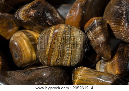 poster of Tiger's Eye And Hawk's Eye Gemstone As  Mineral Rock