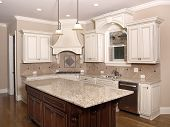 Luxury Kitchen With Granite Topped Island 1