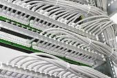 picture of utp  - kind of wiring closet patch panels with 6 - JPG