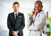 Two businessmen portrait