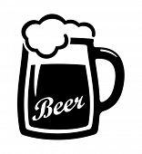 Schwarz Bier-Symbol Vektor.