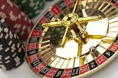 Beautiful gold roulette