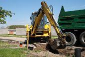 Excavator Loaded Dumper Truck