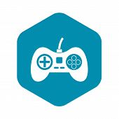 Video Game Console Controller Icon. Simple Illustration Of Video Game Console Controller Vector Icon poster
