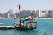 Traditional Arabic Dhow In Abu Dhabi