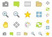 Establecer una simple plano iconos? 2. Hacer es no usar gradiente. Fácil cambio de color. Apuesto en tamaño pequeño.