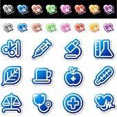 Blue icons. Set 10.