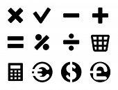 Set of simple mathematical symbol