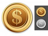 picture of copper coins  - Dollar coin - JPG