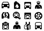 Set a black car icons.