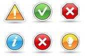 Alert icons.