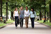 girls walking on tht park