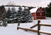 Winter op de boerderij