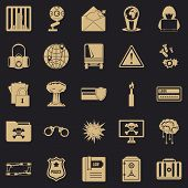 Genius Icons Set. Simple Set Of 25 Genius Vector Icons For Web For Any Design poster