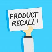 Handwriting Text Writing Product Recall. Concept Meaning Request Analysisufacturer Return Product Af poster