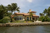 Yellow Mansion On The Water
