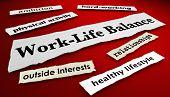 Work-Life Balance Career Job Life News Headlines 3d Illustration poster