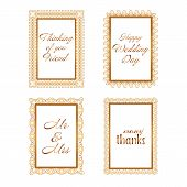 Elegant Lace Border Frames Laser Cut Picture Frames Art Scrapbook - Square Gold Lace Frame And Recta poster