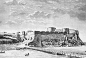 Akkerman fortress. Engraving by Shlipper from picture by painter Cherniavsky. Published in magazine