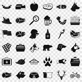 Clever Dog Icons Set. Simple Style Of 36 Clever Dog Vector Icons For Web For Any Design poster