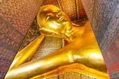 Bangkok Thailand Wat Pho Or The Official Name Is Wat Pho As The Oldest Temple Is Home To A Pair, Wat poster