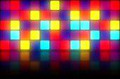 Colorful Retro Dancefloor Backdrop