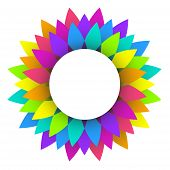 Abstract Rainbow Flower  Design
