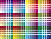 Vector color palette.